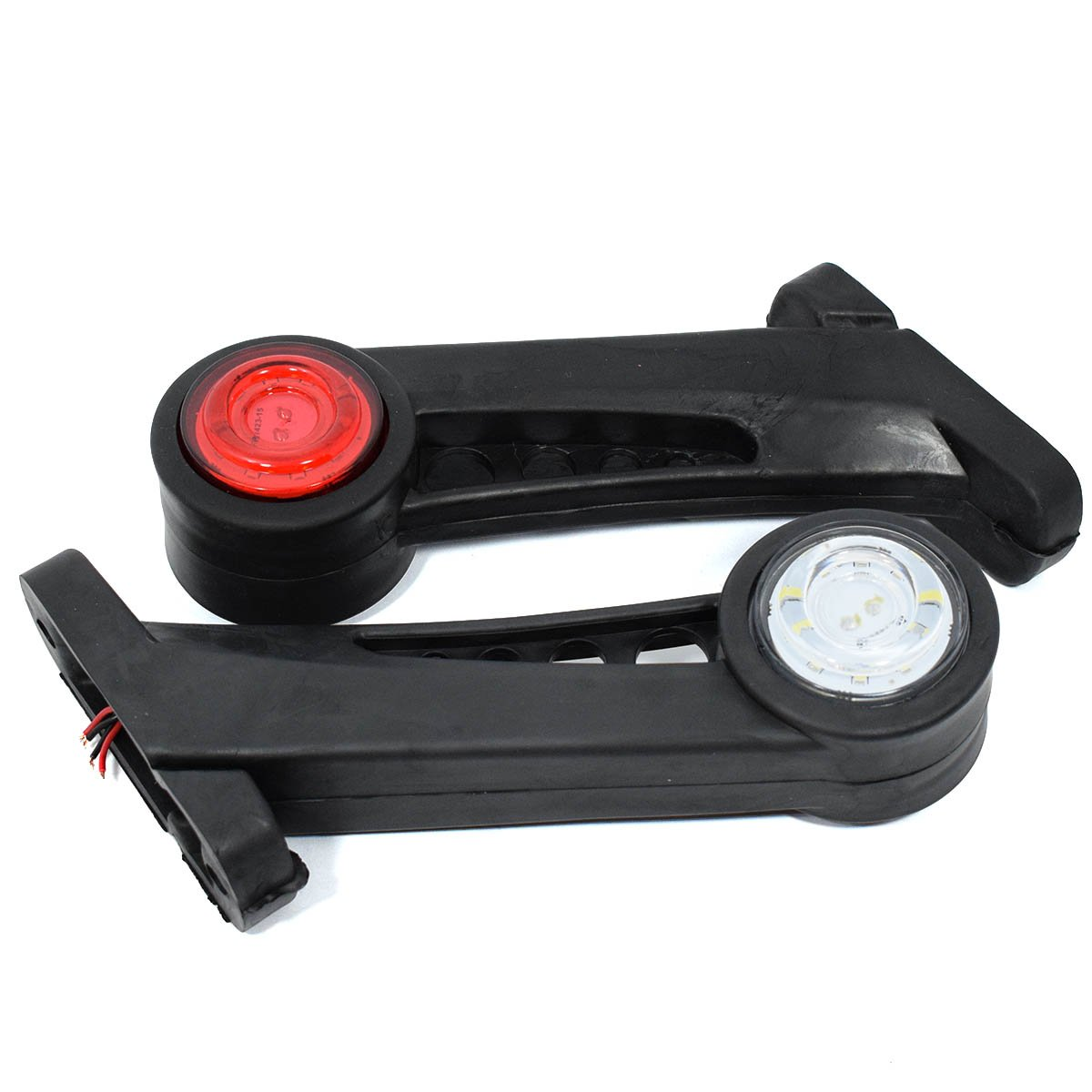 2x LED Gummi Begrenzungsleuchte Seitenleuchte 12V 24V Positionsleuchte Auto LKW PKW KFZ Lampe Leuchte Licht Wei/ß Rot