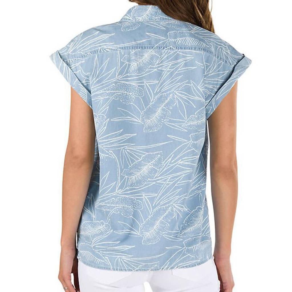 Vans Sundazed Denim Top, Blusa para Mujer, Azul (Tropical Bleach ...