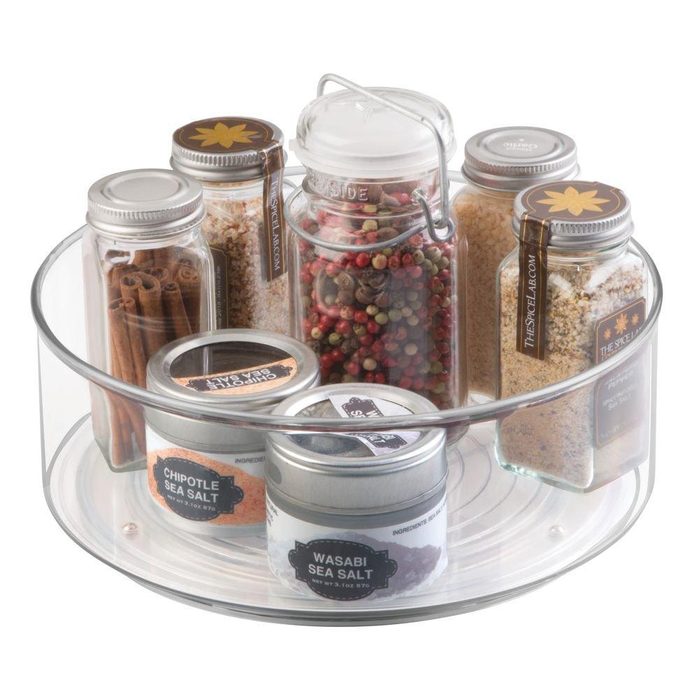 mDesign Especiero Giratorio para Armario y Mesa de Cocina – Práctico Estante para Utensilios de Cocina