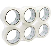 Clear Packing Tape, Heavy Duty Packaging Tape for Moving Shipping Sealing and Storage,1.8Mil Thick, 6 Rolls 1.88 Inch x…