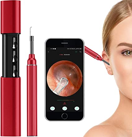 Wireless Ear Endoscope Ear Wax Remover Compatible with Android,PC and iPhone Ear Wax Removal Tool,Ear Camera HD WiFi Ear Scope with 6 LED Lights for Kids and Adults