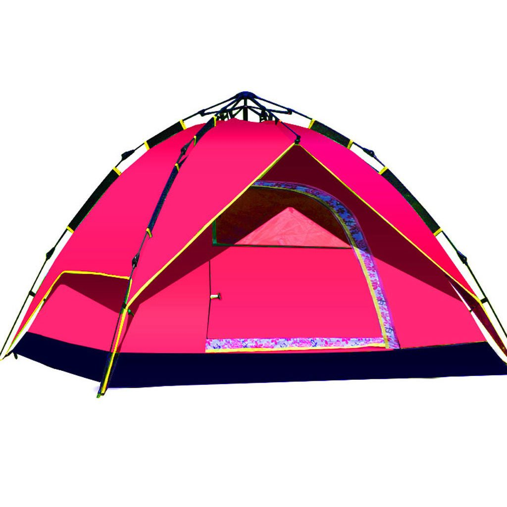 Outdoor-Camping-Zelt im Freien Personen 3-4 doppelte automatische Zelt Familien 2 Personen Campingzelt Doppel regen
