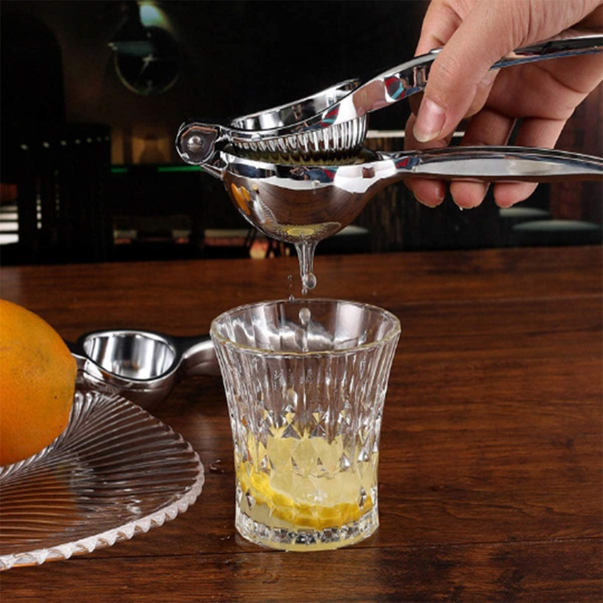 Citrus Juicer Tool Lemon Juicer Squeezer Hand-squeezing Citrus Lemon Clip Hand Manual Lemon Squeezers-lime Metal Squeezer Power Professional Lemon Squeezer Hmtoperyd Lemon Squeezer Lime