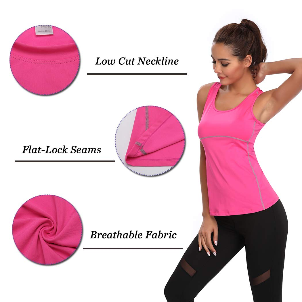 Dry Fit Vest Top Women Compression Tank Sweat Shirt T-Shirt Tee Quick Activewear Sleeveless Sports Workout Athletic Fitness Running
