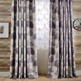 Cheap KoTing Purple Tree Curtains Blackout Drapes Print Tree Room Darkening Window Curtains Grommet 1 Panel 100 inch Length Extra Wide