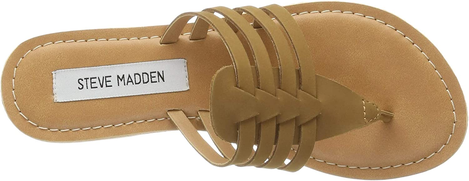 Steve Madden Cheery Sandal (No Size 42), Gladiatore Donna Marrone Cognac Leather 247 uBxPbA