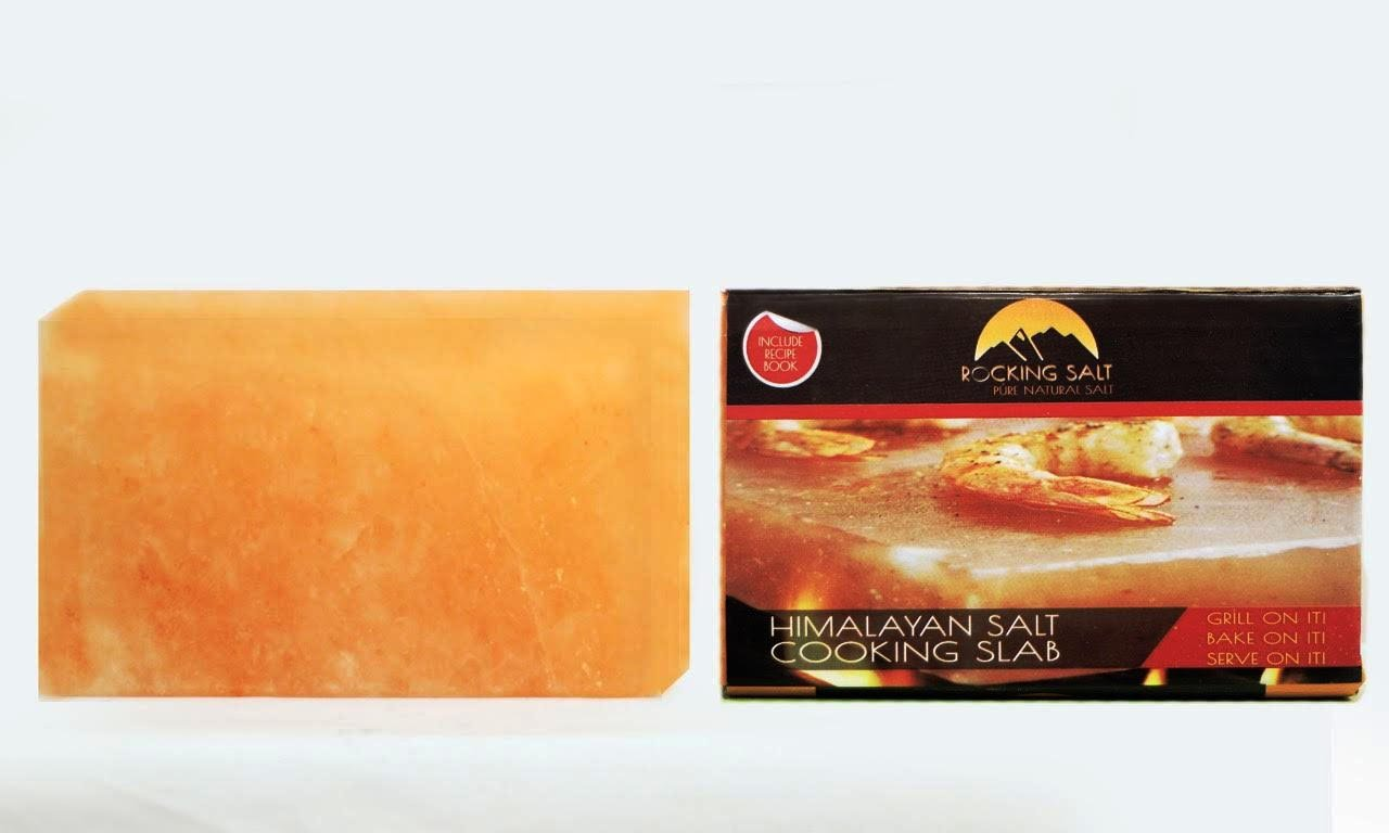 Himalayan Natural Crystal Salt Cooking Tile 10'' X 6'' X 2'' With Free Recipe Guide Included