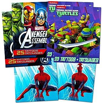Marvel Spiderman Temporary Tattoos Party Favor Set 150 Temporary Tattoos Toys Games Arts Crafts