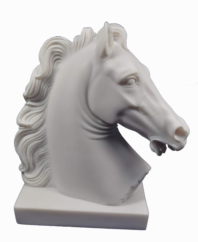 Horsehead scultura greca antica Artefatto testa busto Estia Creations