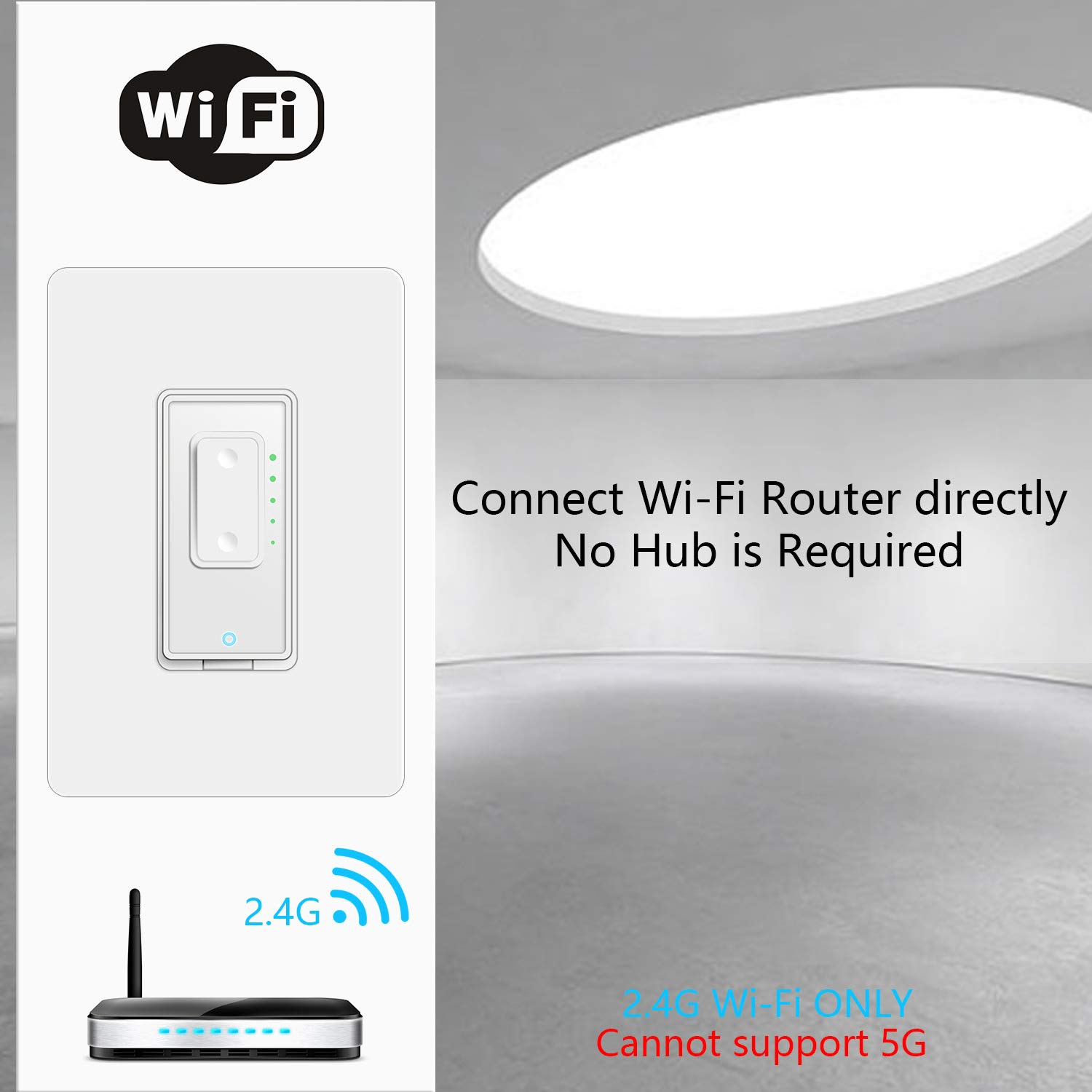 Smart Dimmer Switch OUYUI WiFi Touch Dimmer Light Switch Compatible ...