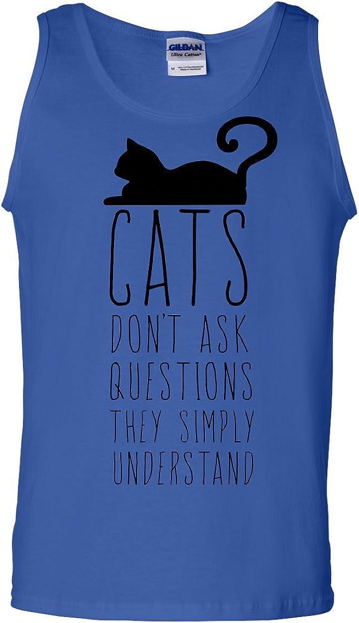 Cat Green Eyes Muscle Shirt Animal Pet Lovers Kitten Huge Cat Face  Sleeveless