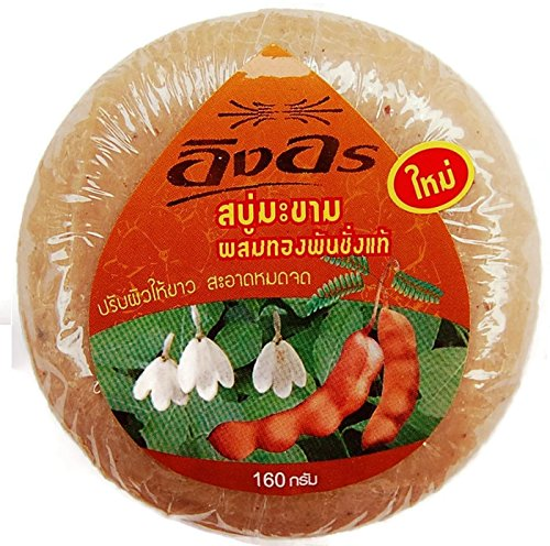 (1 Dozen)ing-on Herbal Scrub Soap Tamarind Mix Gold Genuine.net 140g 61fjF5IBhnL