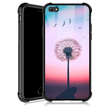 Amazon.com: Funda para iPhone 6S Plus, girasol, luna y ...