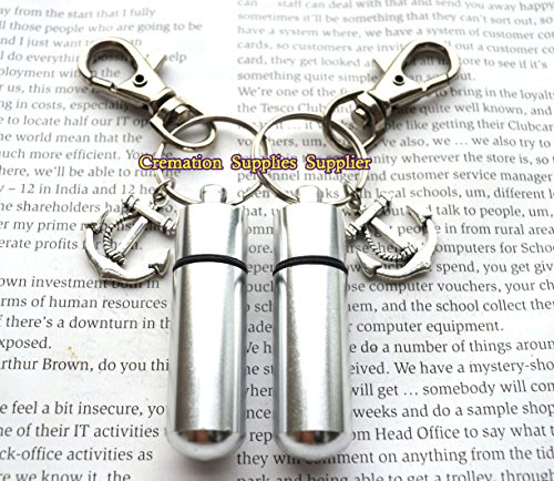 Anchor Stainless Steel Urn keychain-Memorial Keychain-Anchor Remembrance Keychain-Anchor Sympathy-Urn for Ashes