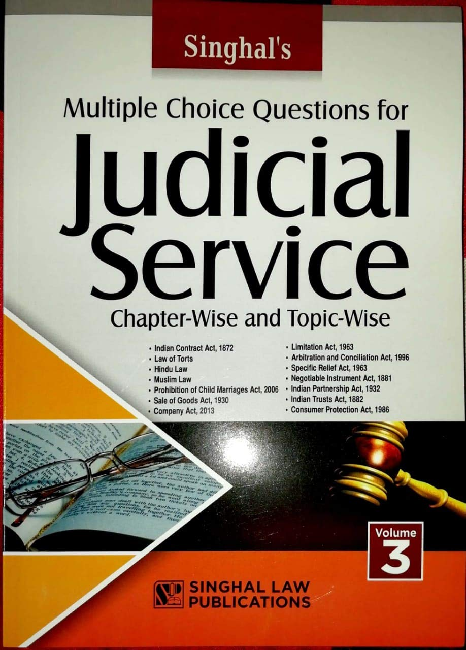 Buy Multiple Choice Questions for Judicial Service Chapter