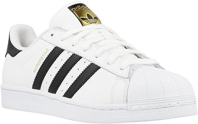 zapatos adidas blanco con dorado negro
