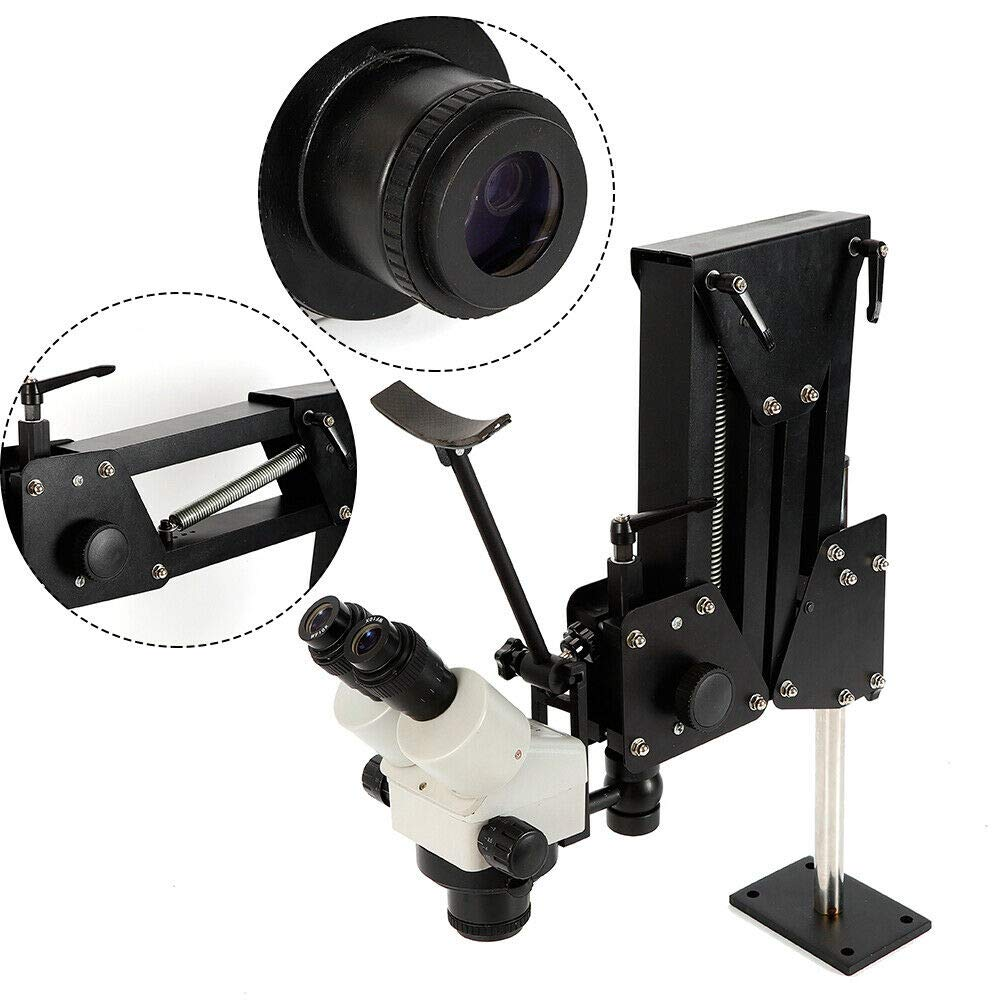 YUNRUS Spring Flex Stand for Jewelers Gem Setting Microscope Jewelry Microscope (Microscope Stand + Microscope) by YUNRUS