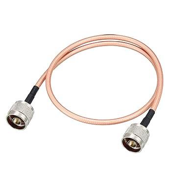 sourcing map Baja pérdida Cable coaxial RF conexión Cable ...