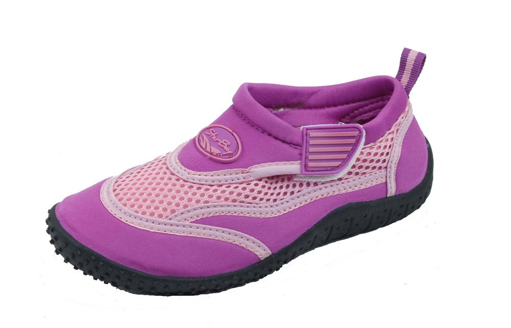 Sunville Brand New Kids Slip-On Athletic Purple Water Shoes/Aqua Socks Size 12