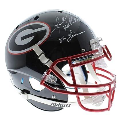 ba5acb4ce Herschel Walker Georgia Bulldogs Autographed Signed Schutt Full Size  Authentic Black Helmet with 82 Heisman Inscription