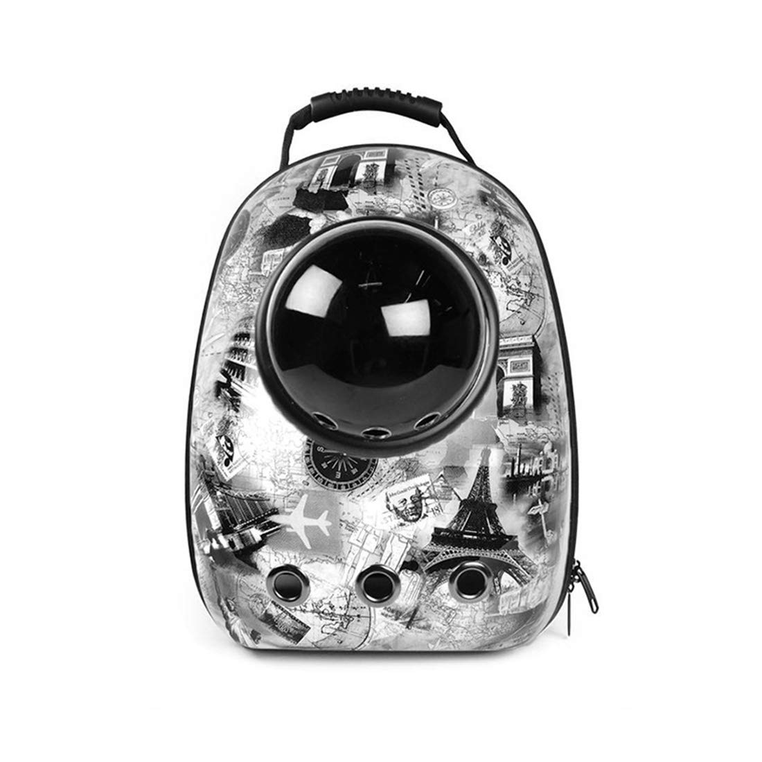 Space Pet Backpack Portable Breathable Bag for Cat and Dog with Bubble Window