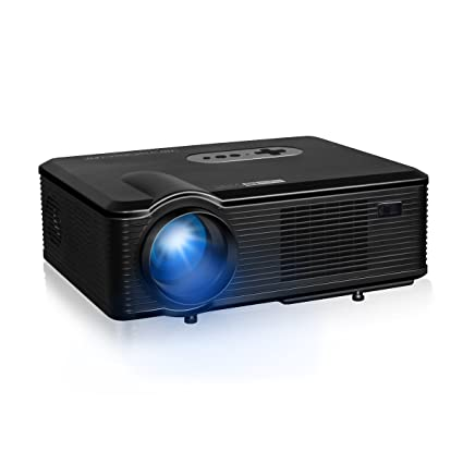 Excelvan CL720D - HD Proyector LED 1080P (3000 Lumenes, 1280 x 800P hasta 1080P, DVB-T HD, Proyeccion 25