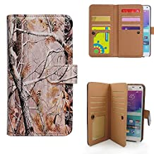 Casea Packing Bcov Multifunction Camo Tree Leather Wallet Case For Samsung Galaxy Note 4