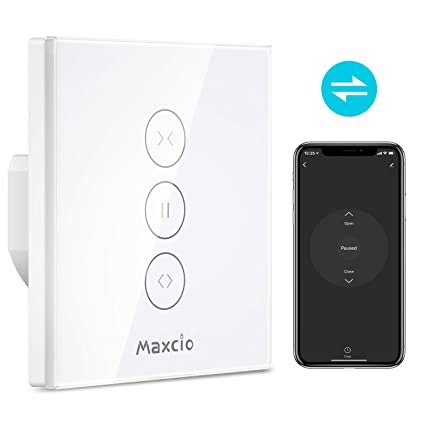 2548d0203e5860 WiFi Roller Shutter Switch, Maxcio Smart Curtain Switch Compatible with  Alexa and Google Home,