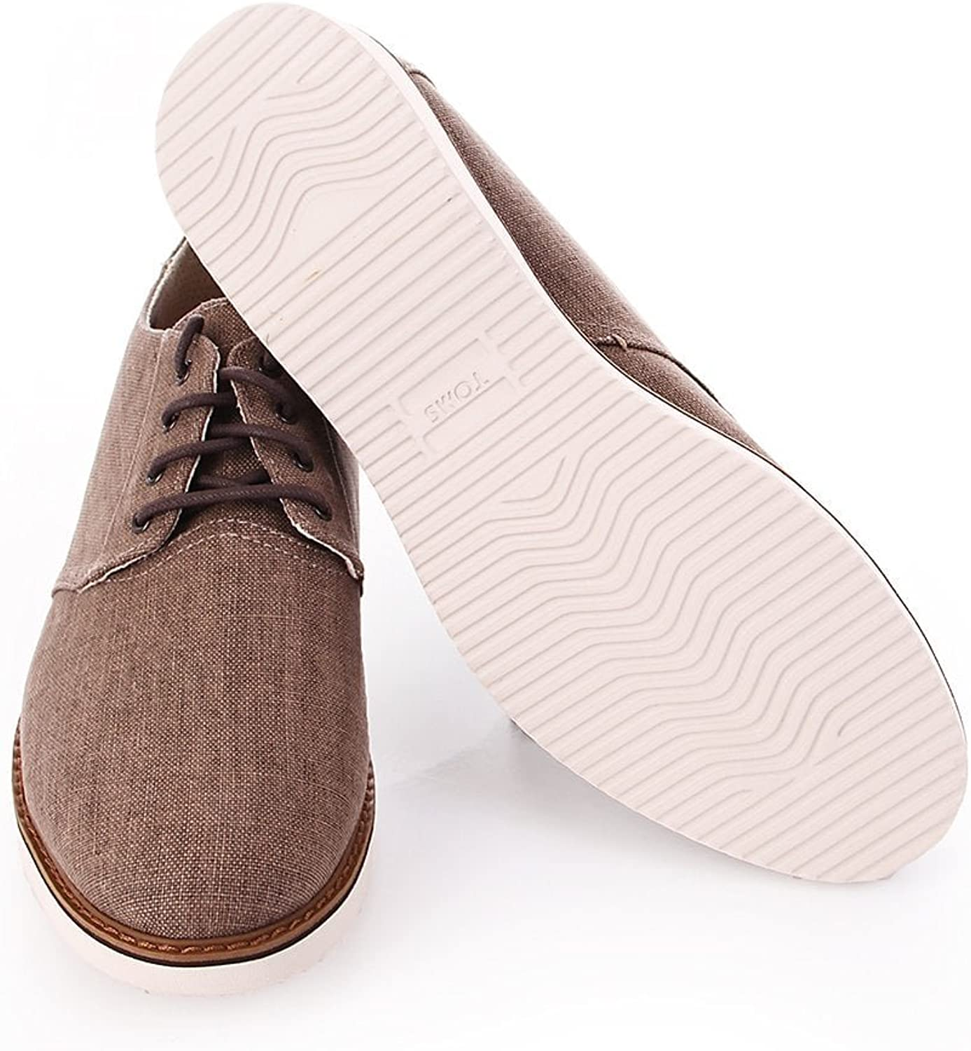 TOMS Women Loren Taupe Gray, Sandales Bout Ouvert Femme Toffee Coated Linen