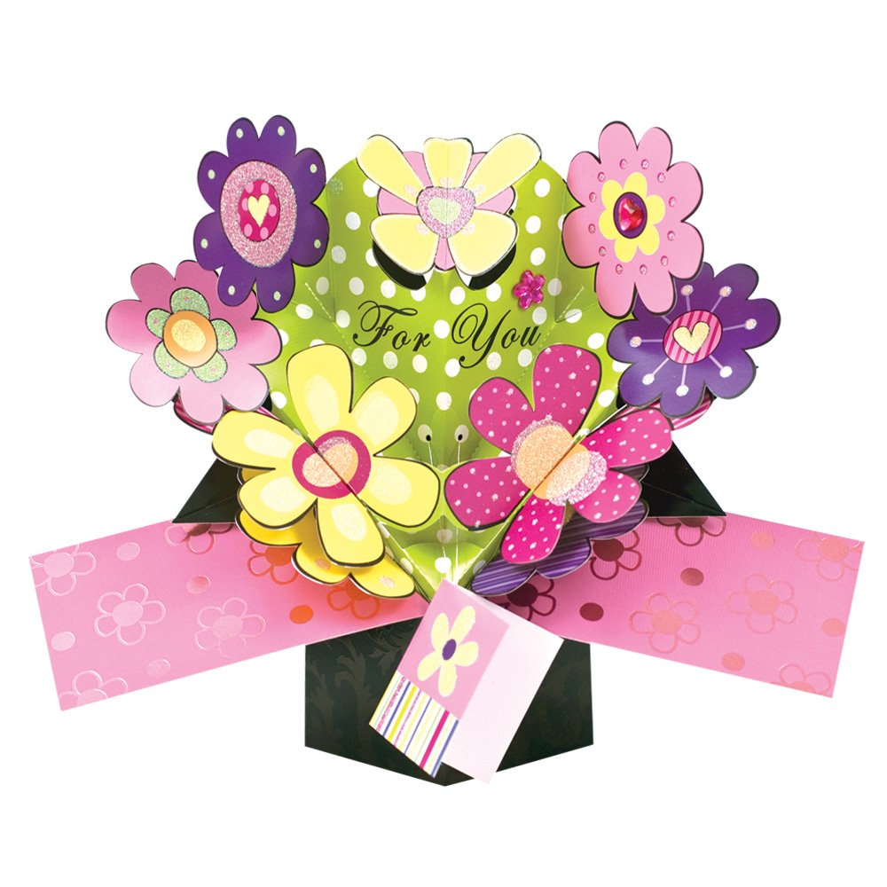 Amazon Pop Up Flowers Greeting Card Birthday Greeting Cards