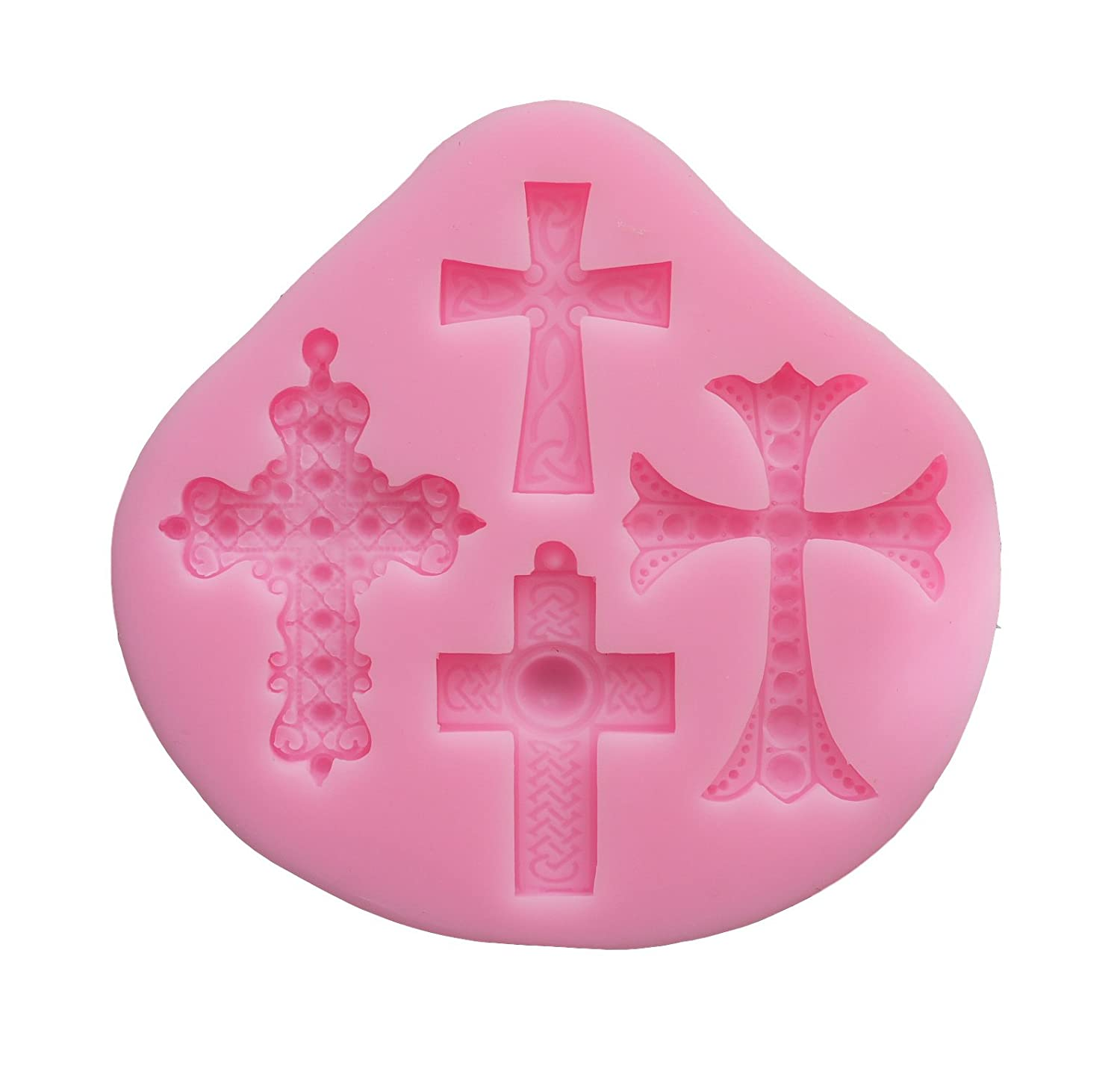 [Ever garden cross crucifix jewelry accessories parts create silicon mold / handmade soap / resin clay / resin / silicon mold / die-cut type / kit tool (Type 2)