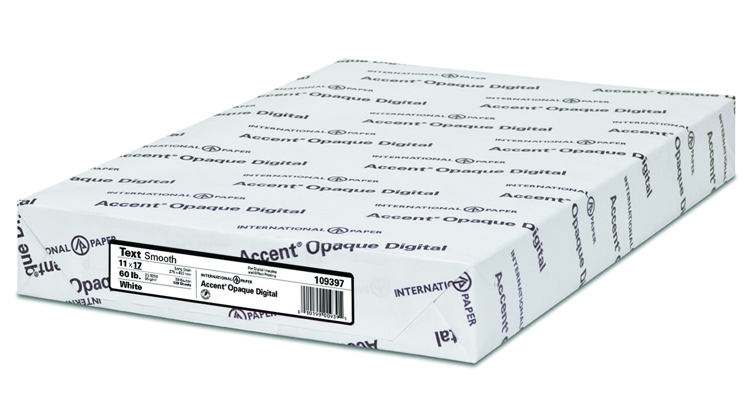 Accent Opaque Digital Inkjet with ImageLok Technology, White, 24lb / 60lb, Ledger, 11 x 17, 95 Bright, 500 Sheets / 1 Ream,)029397R) Made In The USA