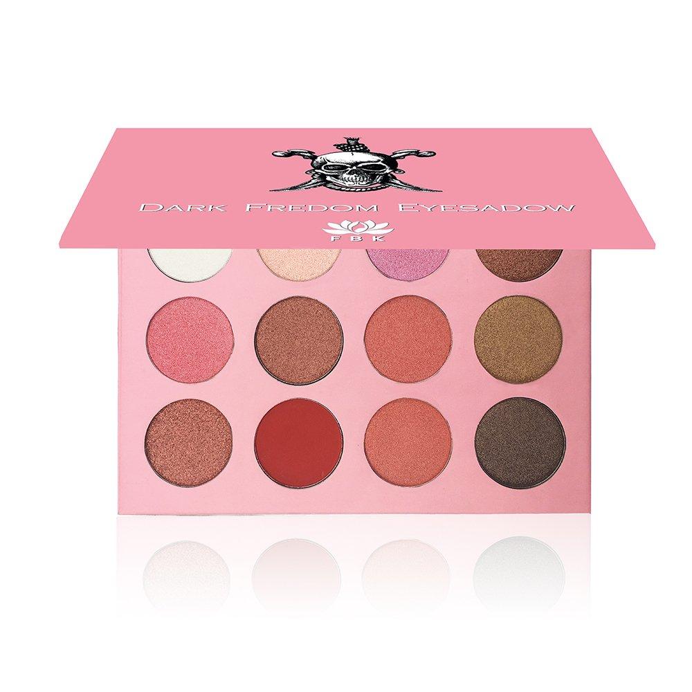 Amazon Kaidifangte Makeup Palette 12 Color Pink Matte Red