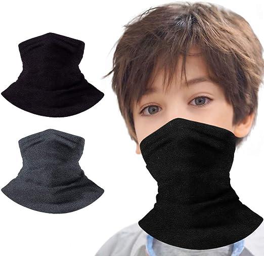 ODOUK Face Mask Bandanas Kids Neck Gaiter Face Mask Bandanas Mouth Cloth Cover Balaclavs Tube Headband for Dust Sun Protection