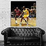 #22 Poster Mural Kobe Bryant Michael Jordan Basketball 40x40 inch (100x100 cm) on Adhesive Vinyl #22