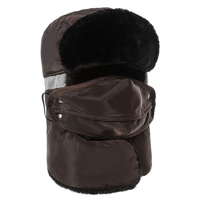 Weanas Winter Trapper Trooper Hat Unisex Waterproof Bomber Hats Coffee 4fc92095b623