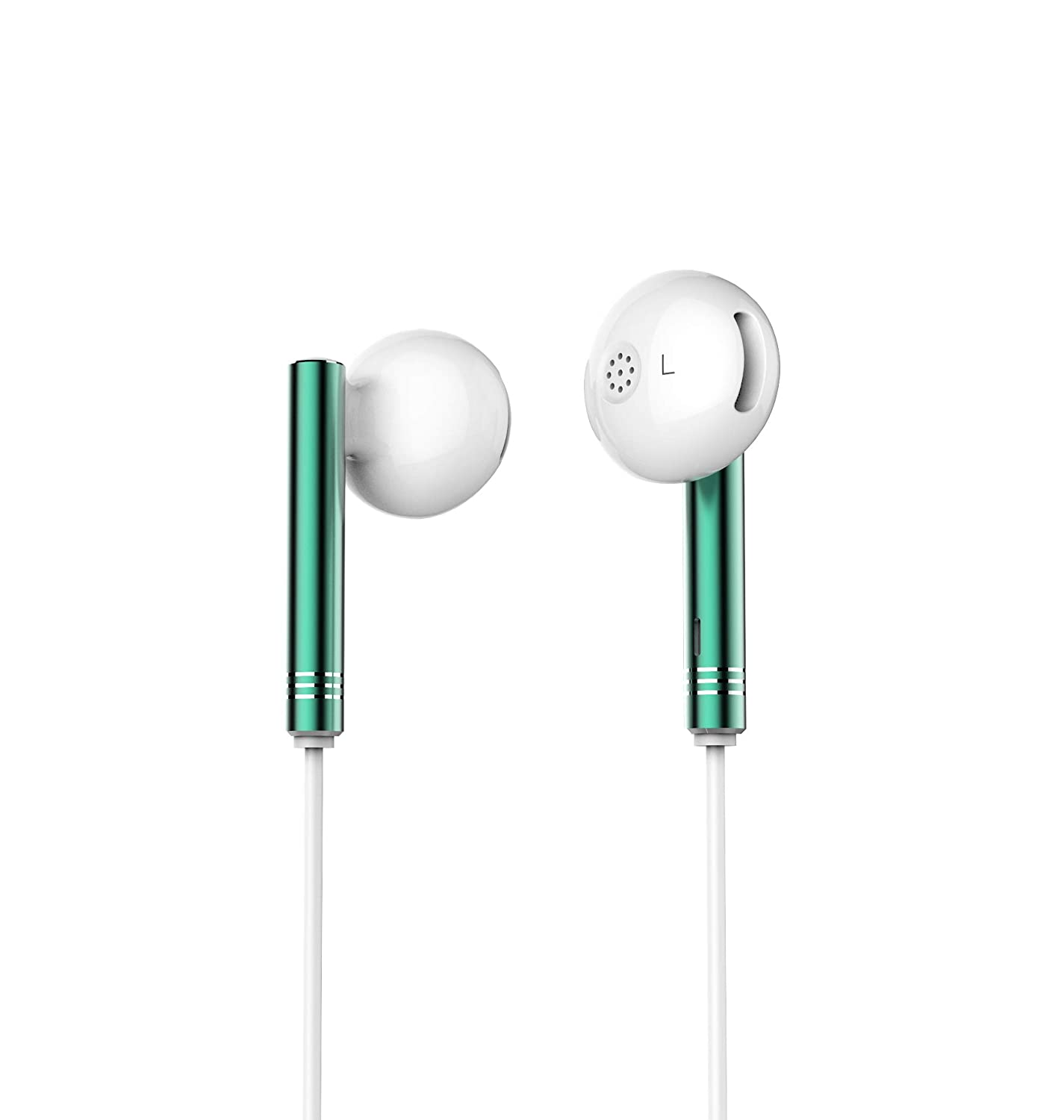 [Apply coupon] SNOKOR by Infinix Bass Drops Earphones (Green) with 14.3mm Large Bass Boost Driver, Trendy Design and Call/Music/Voice Assistant Control