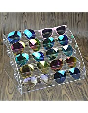 TEUN Sunglasses Organizer Clear Eyeglasses Display Case Eyewear Storage Tray Box for Glasses Tabletop Holder Stand