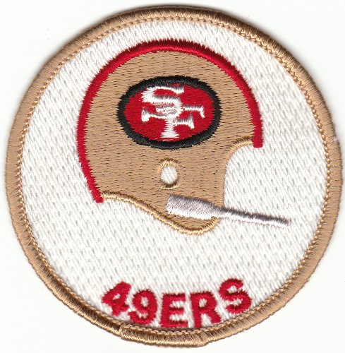 (Vintage 1970s San Francisco SF 49ers 3 inch 1-Bar Helmet Patch (sew on only))