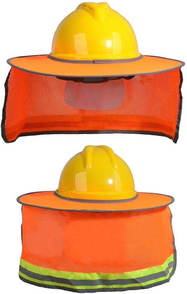 Casco Visera pr/áctico Sombrero de poli/éster Reflectante Caja Fuerte Bolange Protector Solar para el Cuello