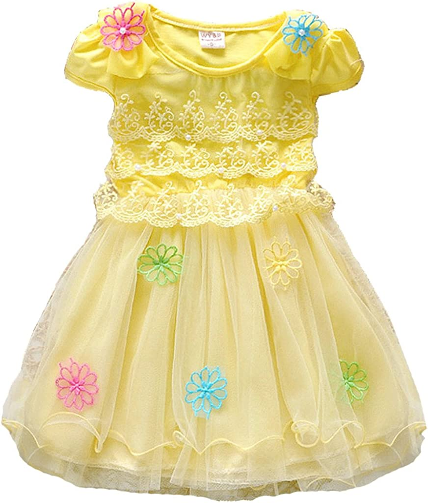 Dolpind Baby Girls Kids Lovely Princess Tutus Cotton+Lace Party Dress