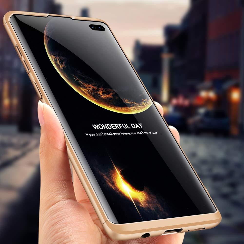 3 en 1, Ultrafina, 360/º, a Prueba de Golpes MRSTER Carcasa r/ígida para Samsung S10e