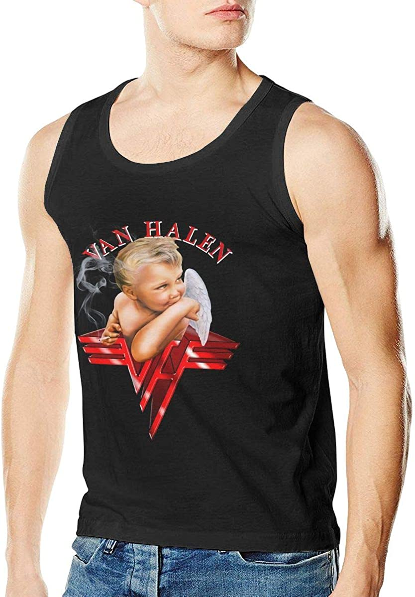 Van Halen Tank Top Mens T Shirt Cotton Fashion Sleeveless Fitness Vest