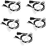 Retevis 2 Pin Funkgerät Headset Ohrhörer mit Schallschlauch für Kenwood PUXING Baofeng UV-5R  Retevis(5 Stücke)