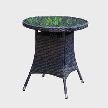 Amazon De Rattan Bistro Tisch Klein Garten Esstisch Rund Weide
