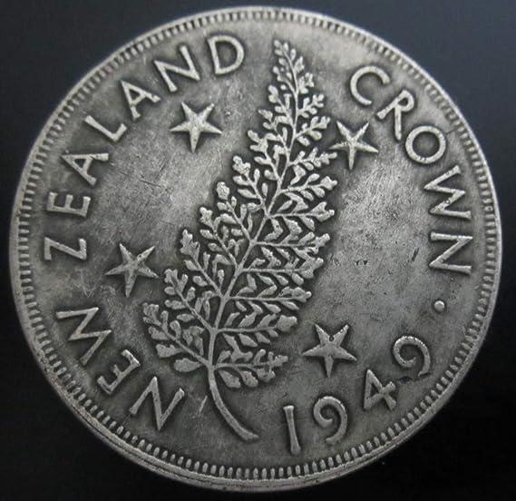 YWJHY Imitación Zelanda 1949 Reino Unido Moneda Conmemorativa de Jorge Vi Dólar de Plata Antiguo,Plata,Un tamaño: Amazon.es: Deportes y aire libre