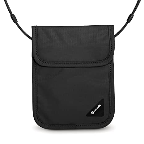 5d91a5135 Amazon.com   Pacsafe Coversafe X75 Anti-Theft RFID Blocking Neck Pouch,  Black   Travel Wallets