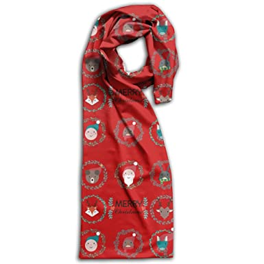noel christmas holiday best wishes adult double sided printing scarfprinting at amazon womens clothing store - Noel Christmas Store