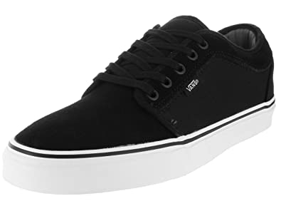 Vans Mens Chukka Low (Suede) Black/White Skate Shoe 13 Men US