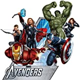 Marvel Superheroes Comic - The Avengers Movie - Captain America, Hulk, Iron Man, Thor, Hawkeye, Black Widow Giant Wall Decal Sticker (Giant)